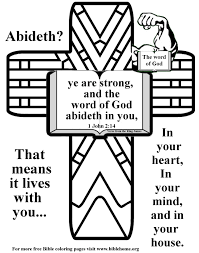 Free Bible Coloring Pages About Strength Plus Free Vbs Crafts