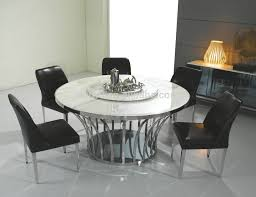 round dining table set with rotating centre tables