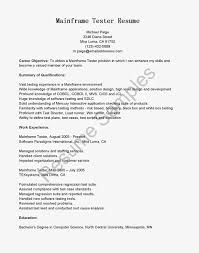 resume samples mainframe tester resume sample use this free sample  mainframe tester resume with objective skills