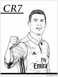 Cristiano Ronaldo Image 5 Coloring Page Free Coloring Pages Online