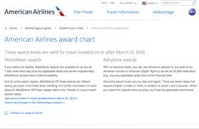 American Airlines Is Changing Their Award Chart