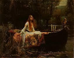 the lady of shalott john william waterhouse oil painting