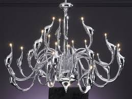 large contemporary chandelier in chrome also in black id 856