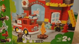 Lego Duplo Light And Sound Fire Truck Lego Duplo Town Fire Station 10903 Building Blocks