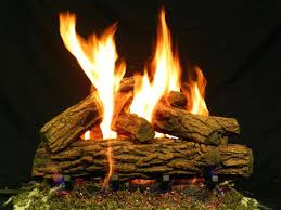 fake fireplace logs propane white birch gas fire