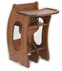 3 in 1 high chair desk rocking horse solid amish handmade furniture