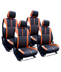 bhati leather car seat covers multicolour bhati leather car seat covers multicolour at low in india on snapdeal