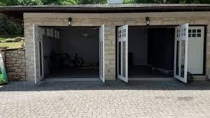 swing out garage doorsCustom Swing Out Garage Door  YouTube
