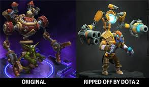 lol updates on twitter dota 2 is known to rip off original games