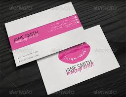 captivating makeup artist business card