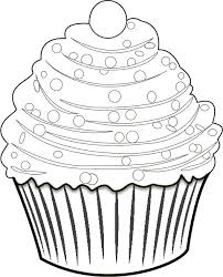 Black And White Cupcake Coloring Pages Lovely Kleurplaat Feestelijke