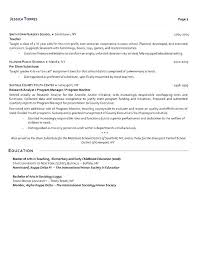 School Teacher Resume Samples Teaching Jobs Resume Sample Simple