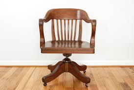 wooden swivel office chair brint wood floor big tall dining set mid century armchair ikea white
