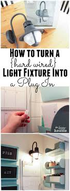 how to turn a hard wired light fixture into a plug in light fixture at the