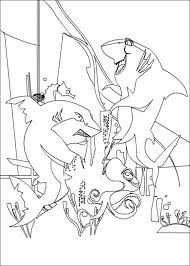 Small Picture Sharks tale coloring pages
