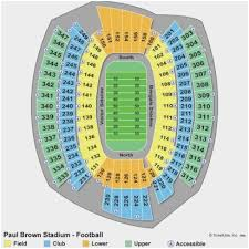 Ga Dome Seating Chart Soccer Paul Brown Stadium Online Charts Collection