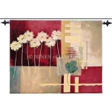 hines of oxford crimson red woven tapestry
