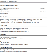 Pediatric Nurse Resume Sample Php Great Nursing Resume Templates For