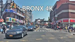 driving downtown bronx 4k new york city usa