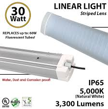 30w led tri proof light fixture replace 3 32 watt fluorescent