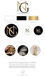 branding package photography logo makeup artist logo lifestyle logo black gold event planner logo fashion boutique business logo