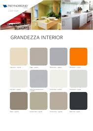 Interior Color Chart Grandezza Interior Color Chart Aluminium Composite Panels