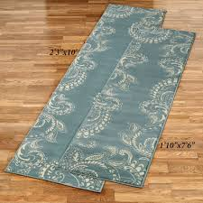 ria rug runner parisian blue
