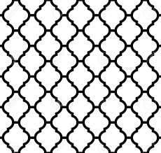 Morrocan Pattern Awesome Moroccan Seamless Pattern In Black And White Royalty Free Cliparts
