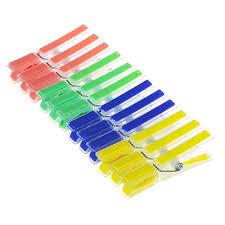 VETTA <b>Набор прищепок 12шт</b>, пластик, с силикон.держателями ...