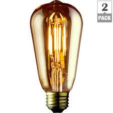 edison bulb lighting. 40W Equivalent Warm White ST19 Amber Lens Vintage Edison Dimmable LED Bulb Lighting