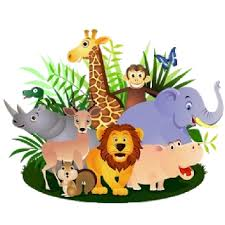 group of animals clipart.  Animals Giraffe Lion Zebra Elephant And Monkey Cartoon Picture Throughout Group Of Animals Clipart C
