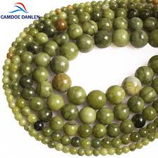 camdoe danlen natural stone green canada jades gem stone semi precious round beads diy charms beads for jewelry making whole