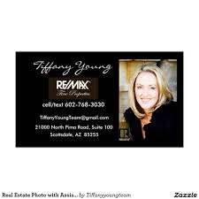 Real Estate Photo With Assistant On Back Of Card Business Card In