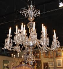 18 arm antique crystal chandelier