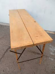 American 1930s Industrial Wallpaper Hangers Folding Table or Desk For Sale