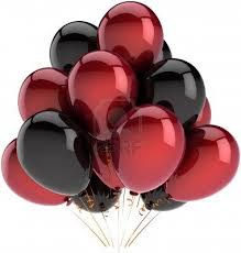 Party Balloons Decoration Of Birthday Multicolor Deep Red And