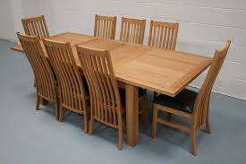 knightsbridge oak dining set round extending table 4 view larger