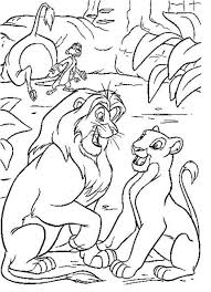 Small Picture Lion King Coloring Page Online Simba with flowers Coloring Page