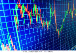 Stock Chart Analysis Tools Stock Market Chart Graph On Blue Stock Photo Edit Now
