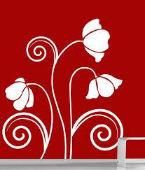 creative width wild flowers wall decal