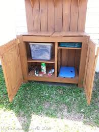 diy potting bench storage