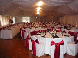 red and white table decorations. Red Ribbon And White Chair Wedding Decoration Ideas: Theme : Full Of Love Table Decorations