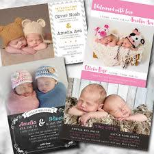 twin birth announcements photo cards birth announcement cards ebay