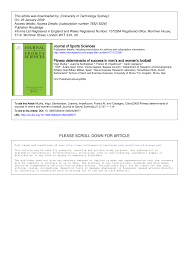 pdf fitness determinants of success in men s and women s football