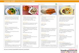 Weekmenu voedingscentrum