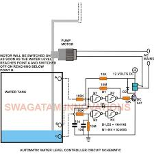 how to build an electronic water level controller a simple water level controller circuit diagram schematic image