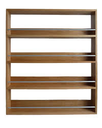 Kitchen Wall Racks And Storage Classic Solid Wooden Brown Wall Mounted Spice Rack With Square
