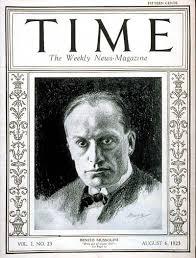 TIME Magazine Cover: Benito Mussolini - Aug. 6, 1923 - Benito Mussolini -  Facism - Italy - World War II - Military