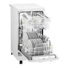 portable dishwasher in white with 8 place setting capacity