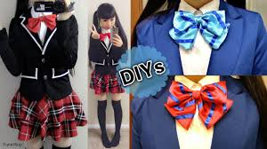 back to school diys diy daily cosplay japanese uniform jacket diy love live striped bow tie